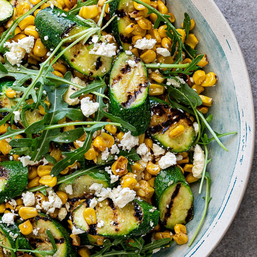 Corn and grilled zucchini salad - Simply Delicious