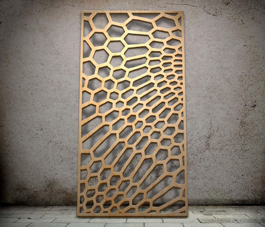 Decorative Wood Screens ~ Geometric miles and lincoln laser cut screens
