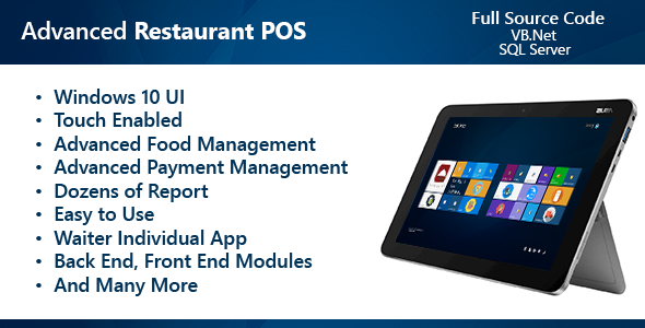 Advanced Restaurant POS Waiter App by mostafa3d1 Software