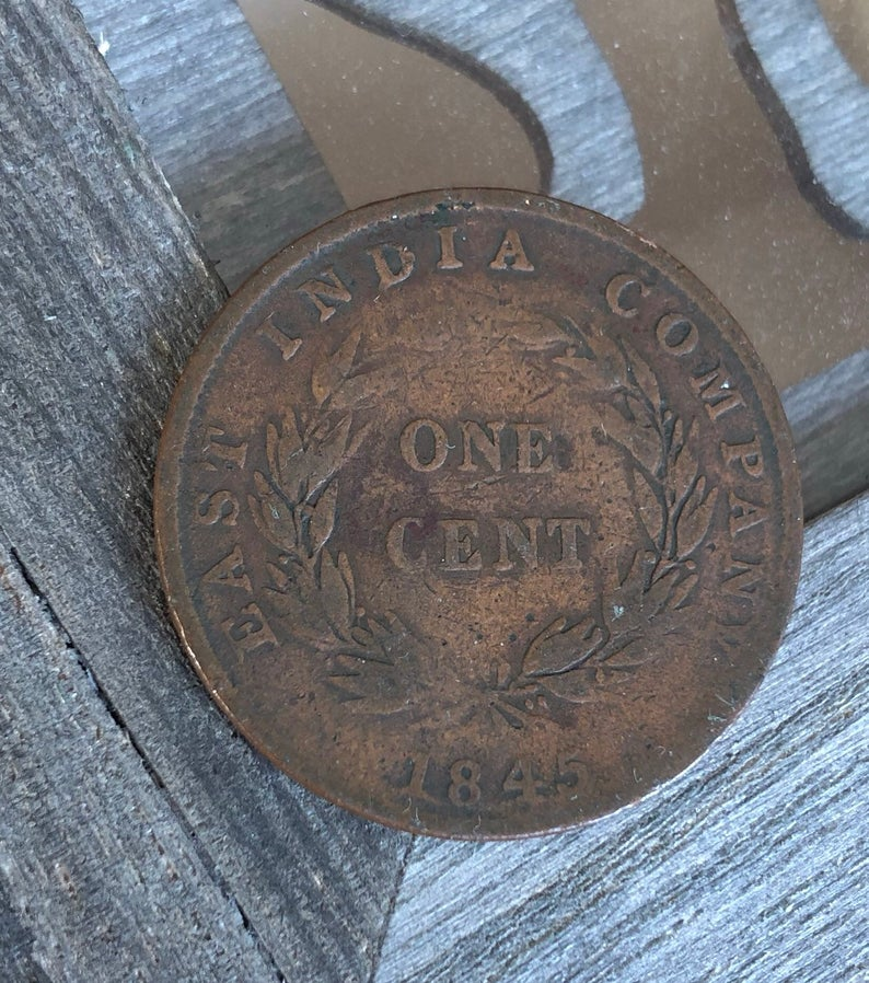 East India Company One Cent Victorian Coin Straits Settlements Etsy East India Company Straits Settlements Coins