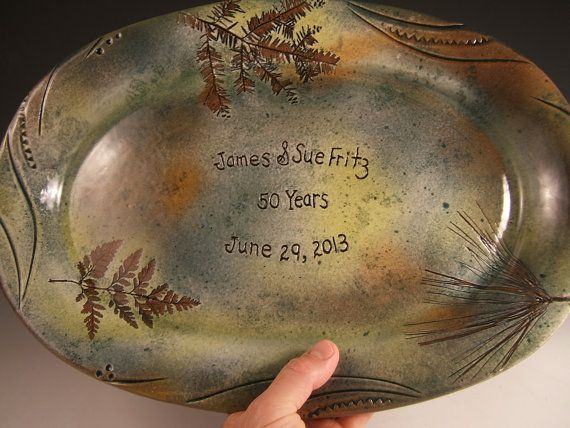 9th Year Wedding Anniversary Gifts: Personalized Anniversary Gift Wedding Gift Stoneware