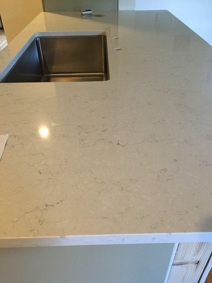 Snowy Ibiza Quartz Kitchen Countertops Kitchen Countertops