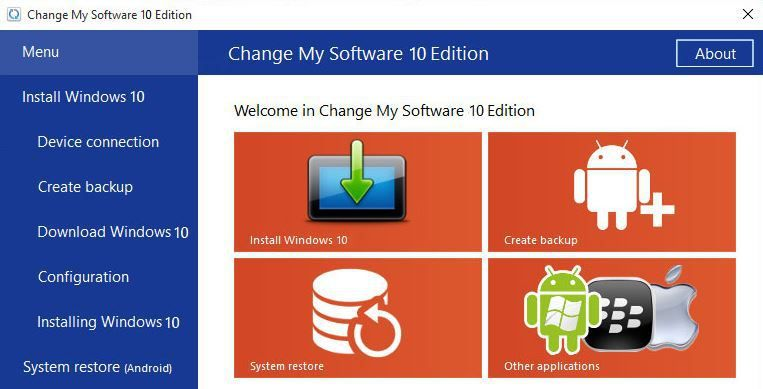 change my software 10 edition download free