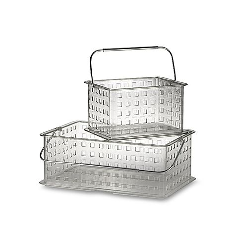These Zia Storage Baskets From Interdesign Are Ideal For Carrying Your Toiletries To The Shower Or For Simply Organizing Mak Storage Baskets Interdesign Basket