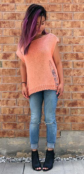 707b63ae8 DIY    Wrecked Tee Knit Pattern