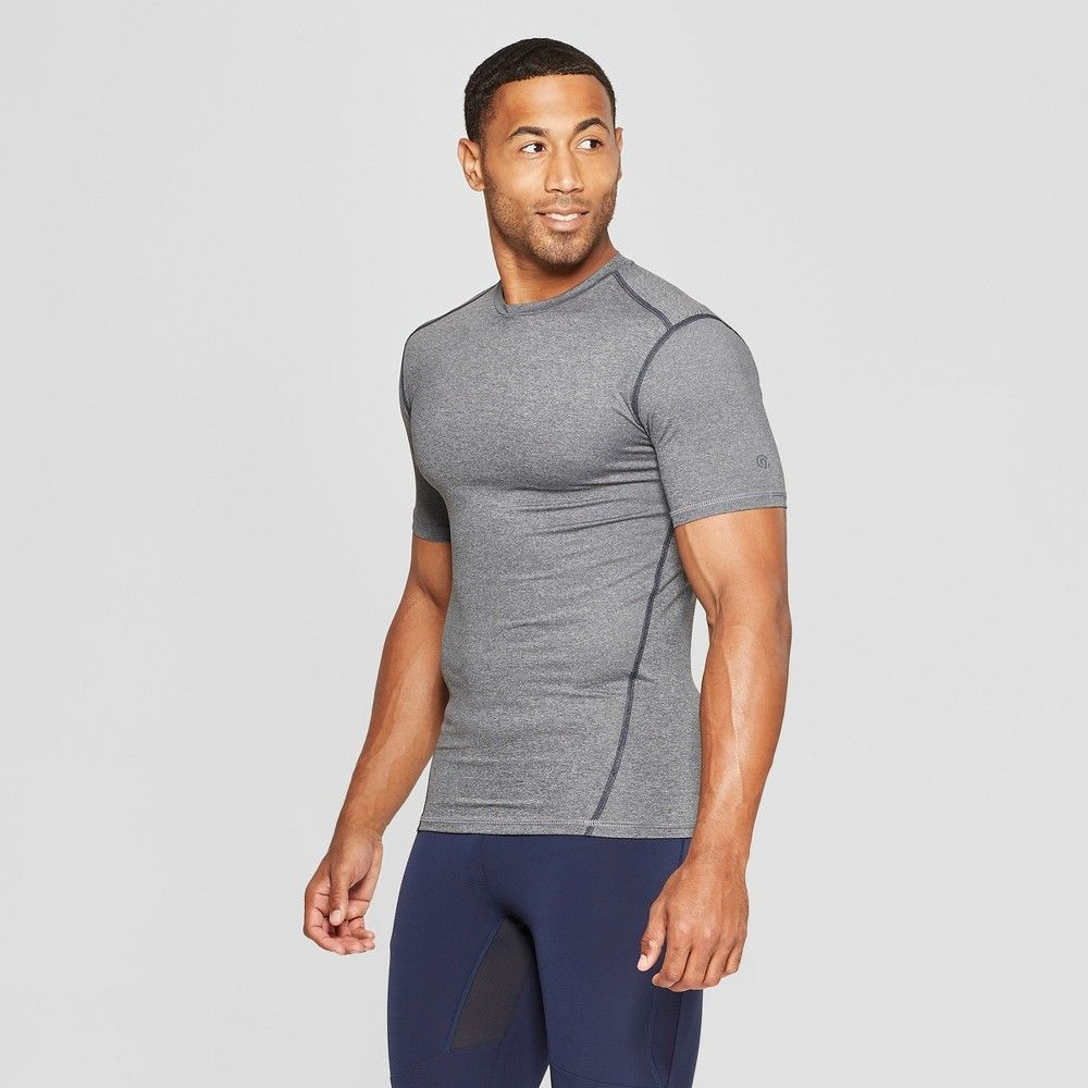c83e839c3a4b Men s Fitted Short Sleeve Compression T-Shirt - C9 Champion Charcoal Gray  Heather Xxl