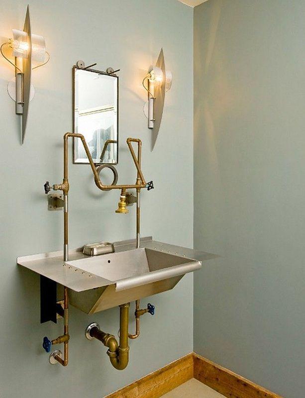 Steampunk bathroom from steampunk interior decor decor for Copper bathroom ideas