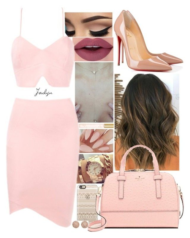 """{Pinky//Jaclyn}"" by leadingladyx17 on Polyvore featuring Marc Jacobs, Casetify, Christian Louboutin, Kate Spade and Michael Kors"
