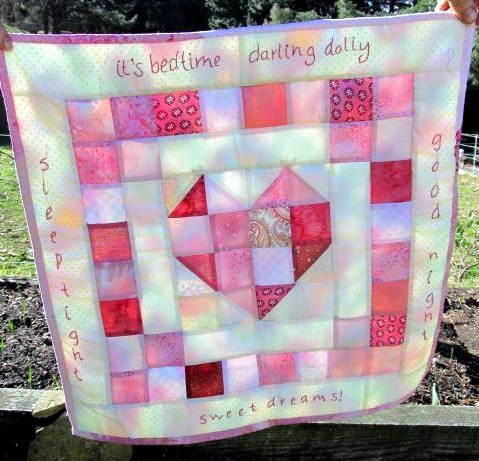 scrappy heart doll quilt, but I wanna make it human size ... : doll quilt size - Adamdwight.com