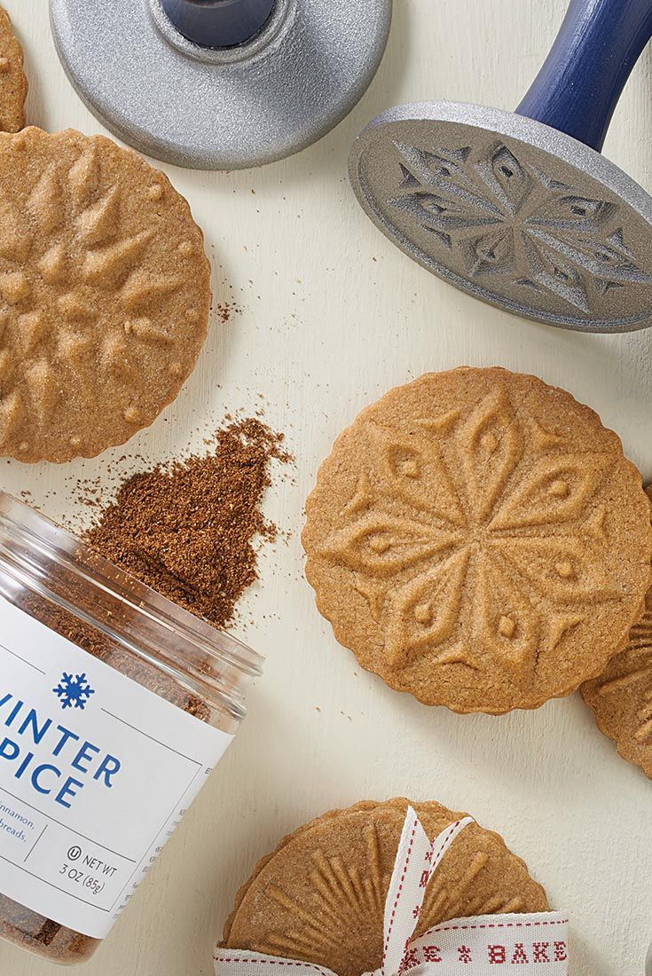 Winter Spice Stamp Cookies Recipe Our New Baking And Star Themed Cookie Stamps Add Holiday Charm To These Buttery Tender Brown Sugar