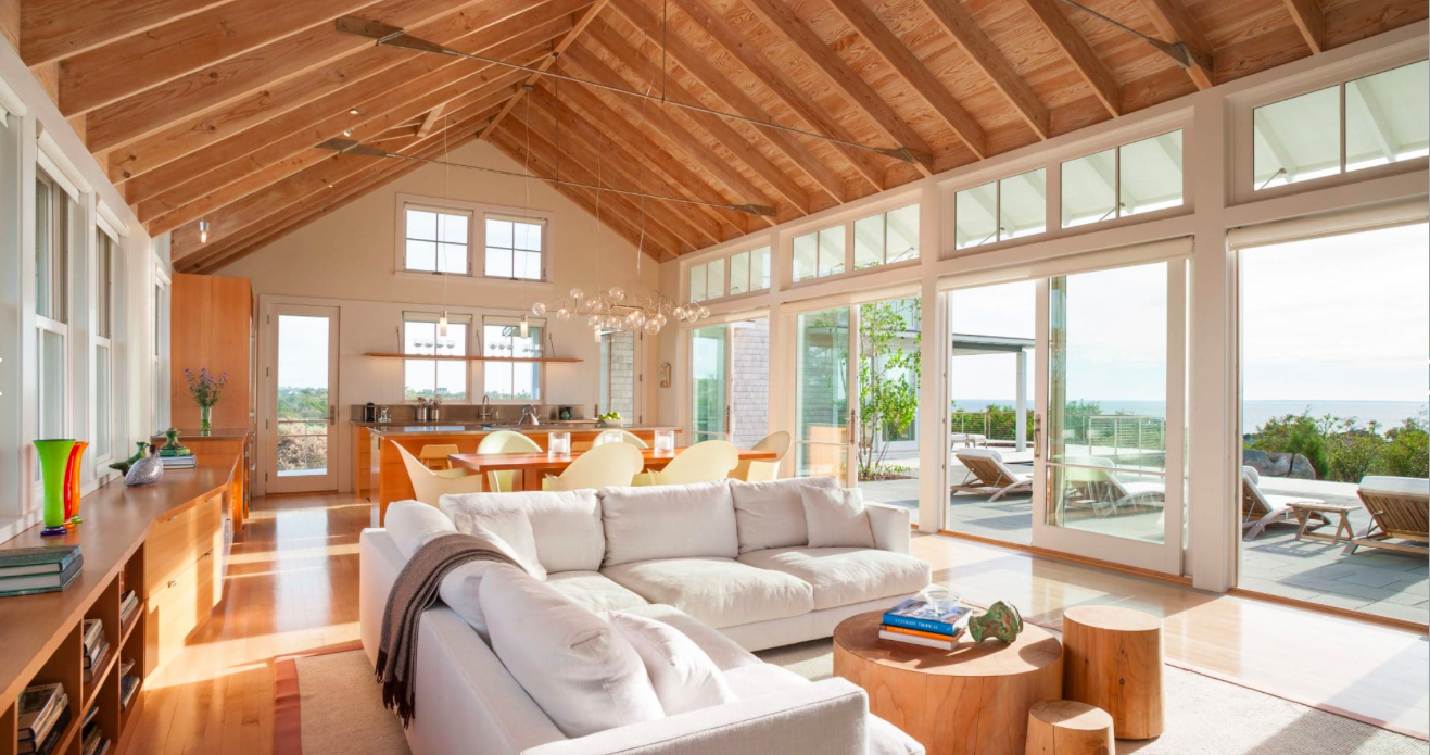 Estes Twombly Natural Ceiling With Images Beach Living Room
