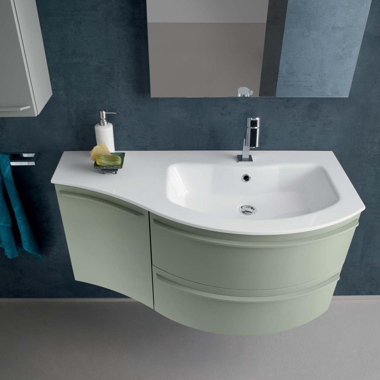 Mobile bagno curvo sospeso n12 atlantic cm 106 bagni nel 2019 bathroom vanity tops bathroom - Armadietti da bagno ...
