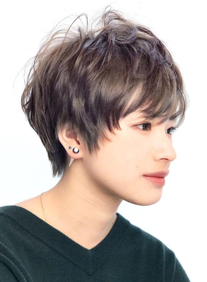 シルバーアッシュショート 髪型 ヘアスタイル ヘアカタログ