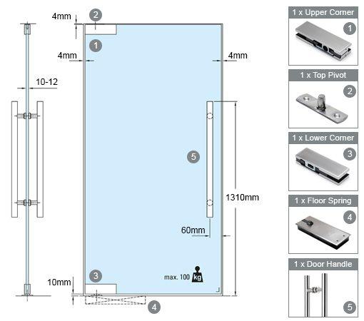 swing glass door mechanism floor spring upper  Google