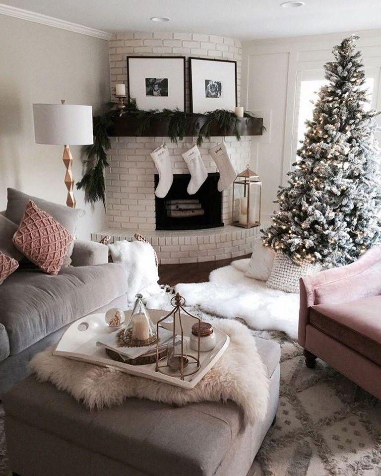 53+ Popular Christmas Decoration Ideas Living Room #christmas #ideas  #livingroomideas