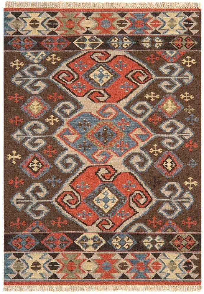 Teppich modernes Design KELIM KE07 RUG Wolle E103288 Teppiche