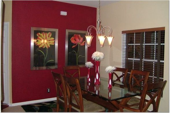 I Dont Think Want Red But Like The Picture Placement Dining RoomsDining Room WallsChabby ChicRed AccentsHow