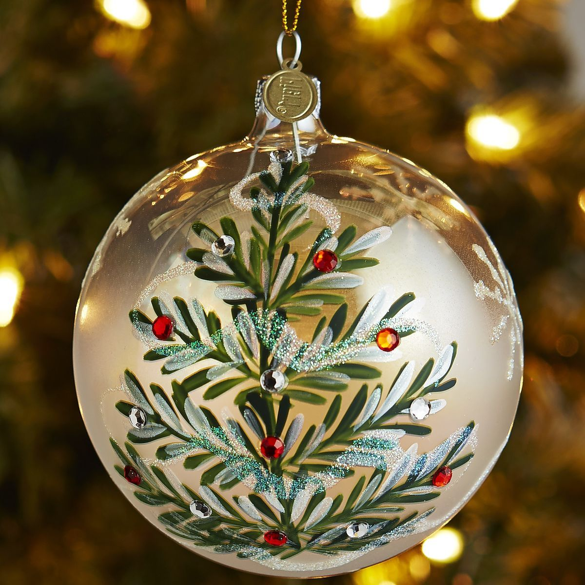 Christmas Ornaments Online Shopping Europe: European Glass Frost Gem Tree Ornament
