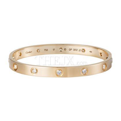 Replica Cartier 18K Pink Gold Bracelet Set With 10 Diamonds 1:1HighQuality Cartier Bracelet