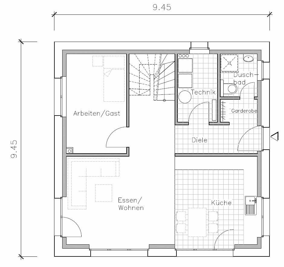 Passivhaus Hannover Bemerode Haus Grundriss Grundriss Kuche Grundriss