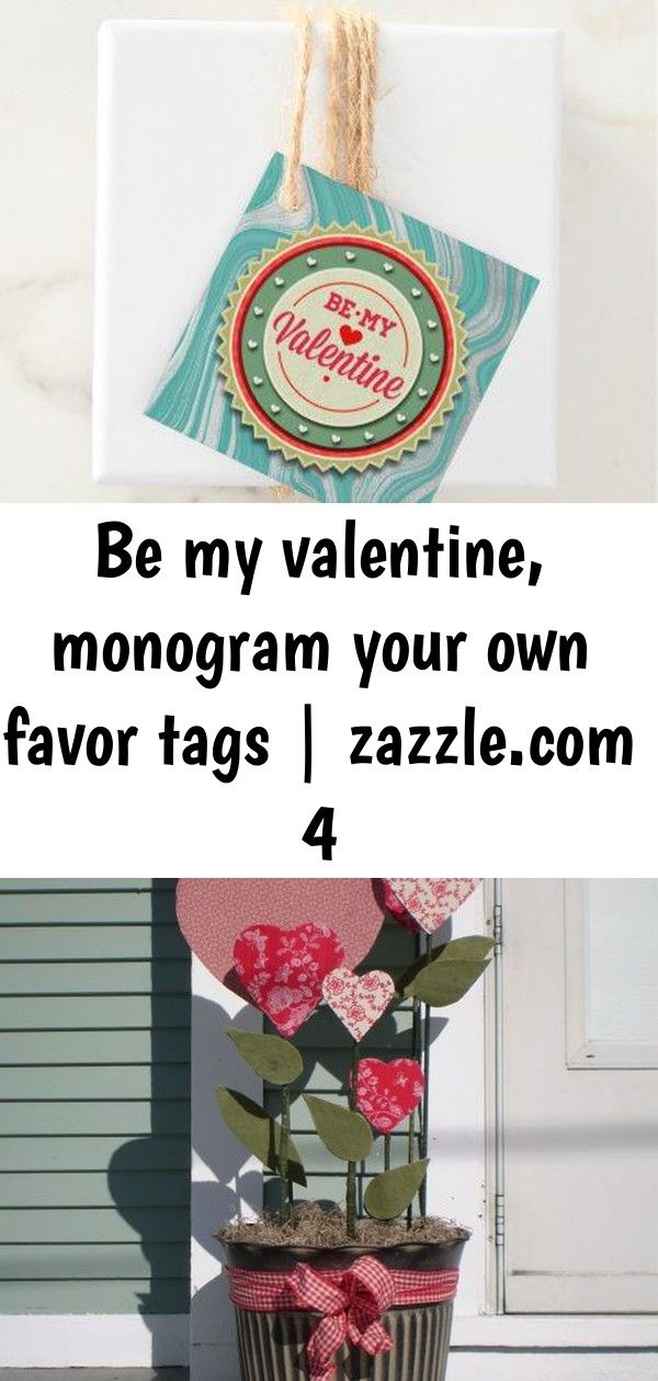 Be my valentine monogram your own favor tags  4 Be My Valentine Monogram Your Own Favor Tags  valentines day gifts gift idea diy customize special couple love Comfy Outdo...