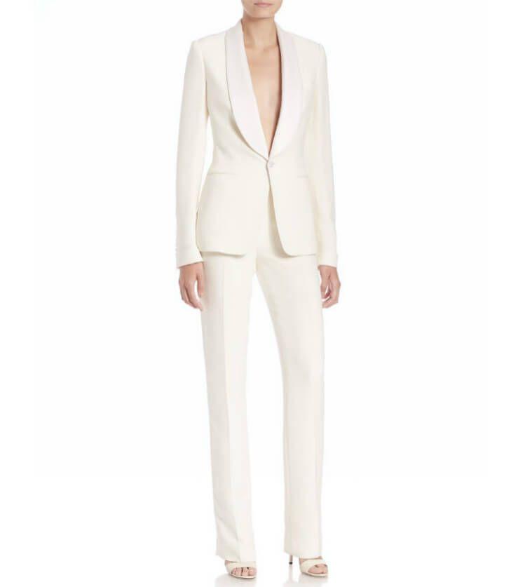 Calvin Klein White Pantsuit
