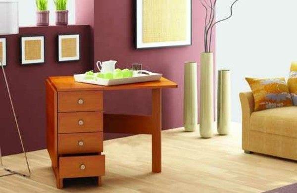 wandklapptische klappbare holztische f r kleine r ume b ros tisch holztisch und. Black Bedroom Furniture Sets. Home Design Ideas
