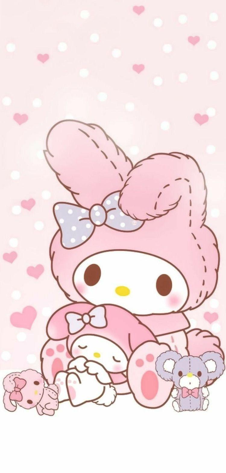Kawaii Wallpapers Page Iphone Wallpaper Kawaii Melody Hello Kitty My Melody Wallpaper