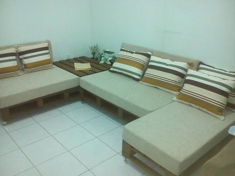 hacer muebles con palets de madera youtube
