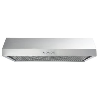 Vissani 30 In W Under Cabinet Range Hood In Stainless Steel Qr272s The Home Depot Range Hood Ducted Range Hood Under Cabinet Range Hoods