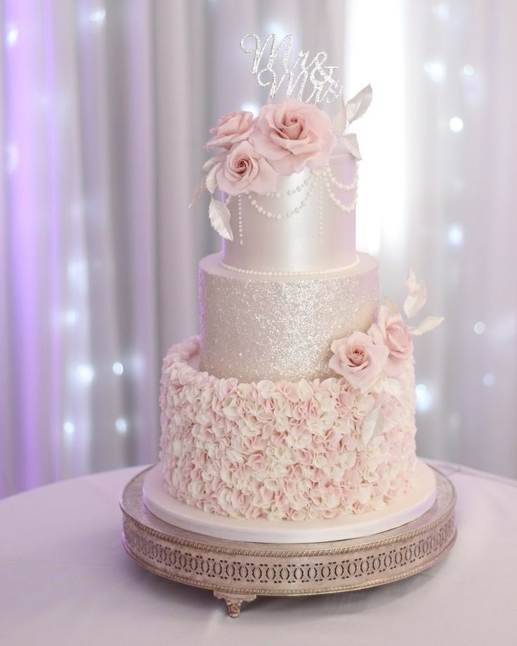 14 wedding Rose Gold cake ideas