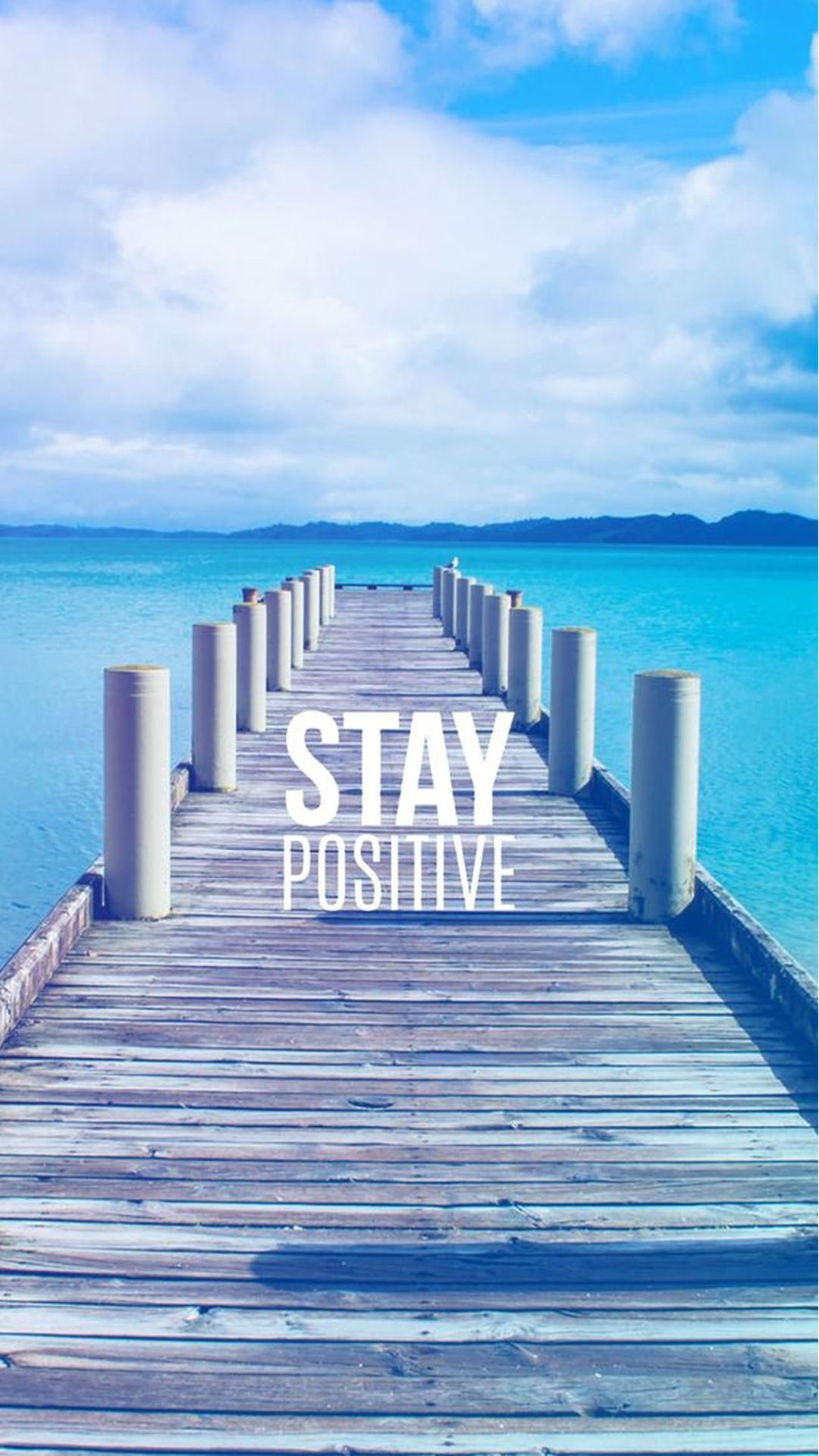 Captivating Stay Positive Motivational IPhone 6 Wallpaper
