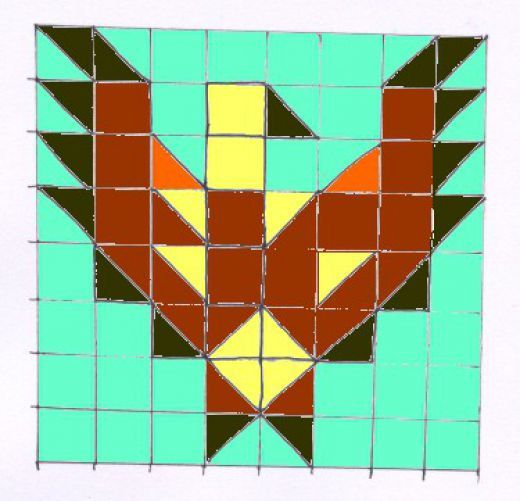 Sew a Patchwork Eagle Wall-hanging - Free Pattern | Native ... : native american quilt block patterns - Adamdwight.com
