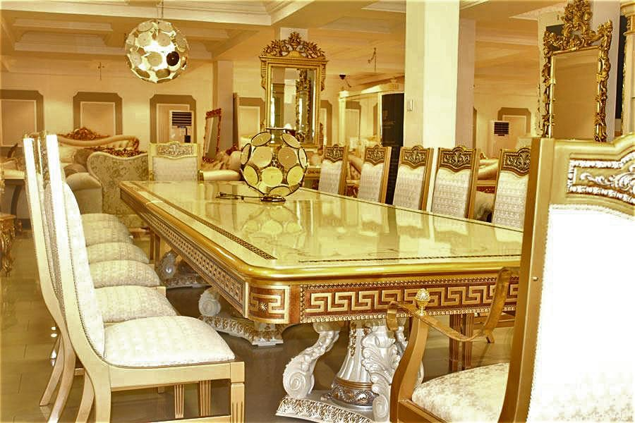 Versace Dining Table Set, Versace Dining Room Set