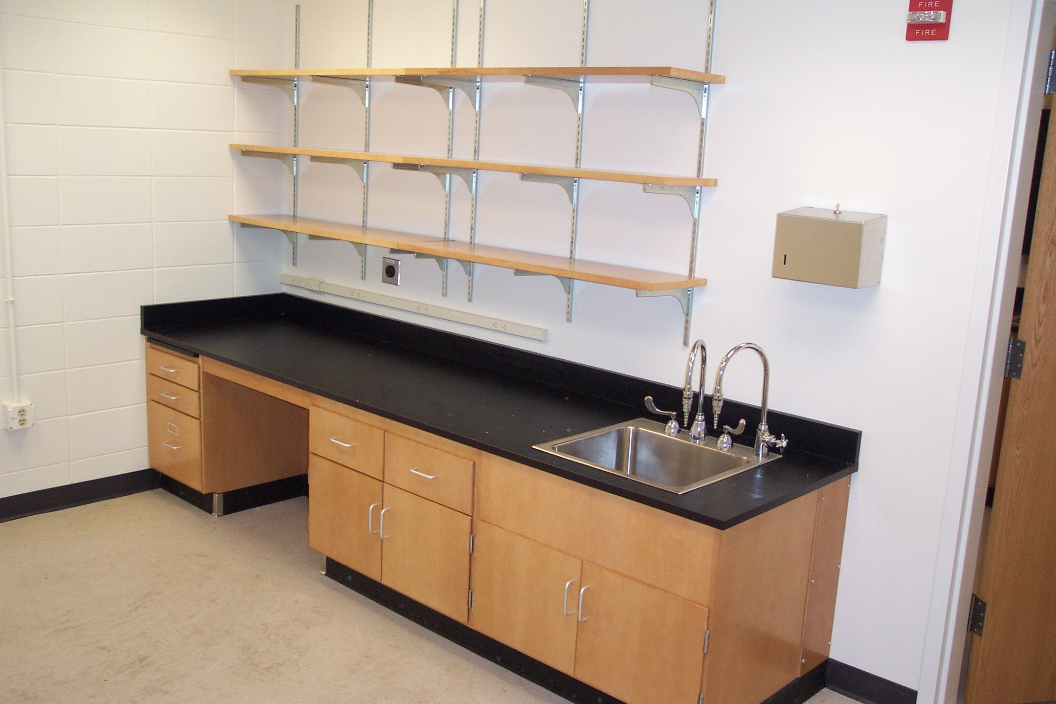 Stainless steel sink and faucets. | Laboratory Faucets, Fixtures ...