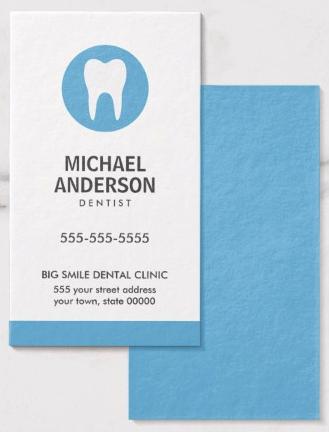 Dentist Or Dental Clinic Assistant Modern Blue Business Card Zazzle Com Modern Business Cards Dental Business Cards Blue Business Card