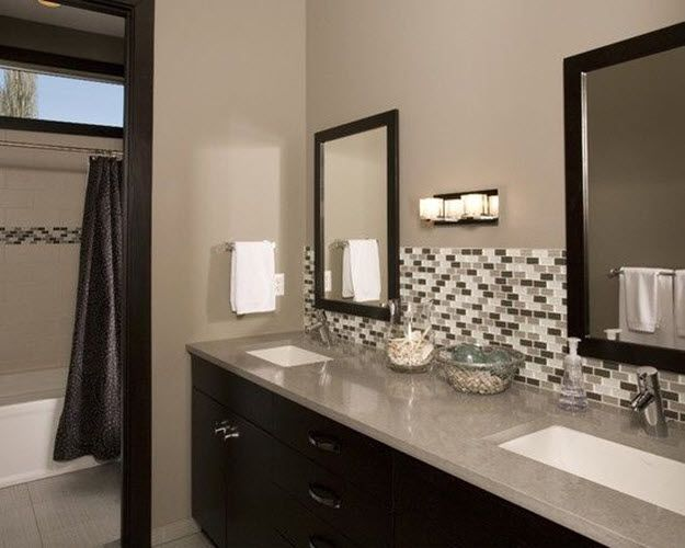 35 Grey Brown Bathroom Tiles Ideas And Pictures Home Bathrooms. Brown And Grey Bathroom   Home Design