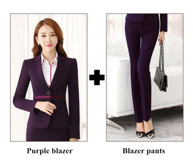 Chic Single Breated Pant Suit