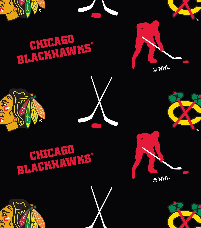 Chicago blackhawks fleece fabric