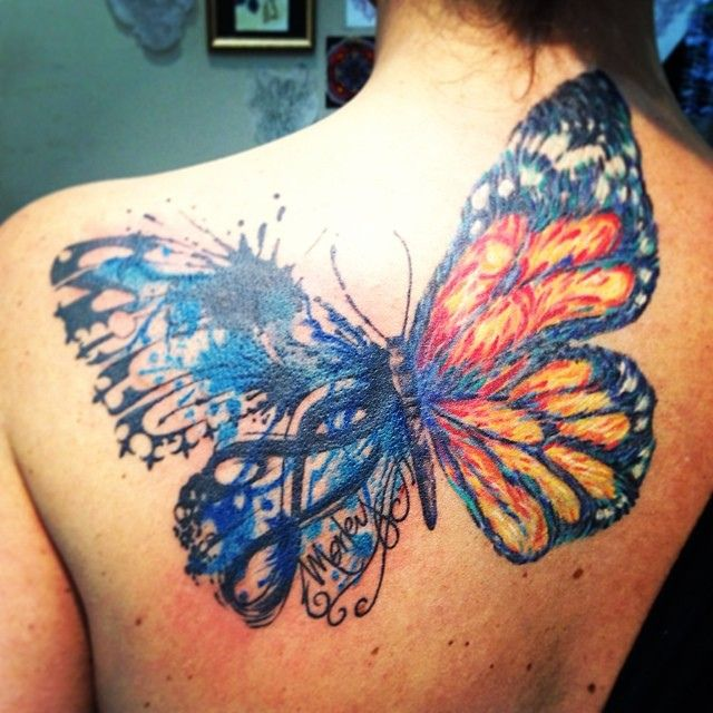Watercolor Butterfly Tattoos: Imgs For > Watercolor Butterfly Tattoos
