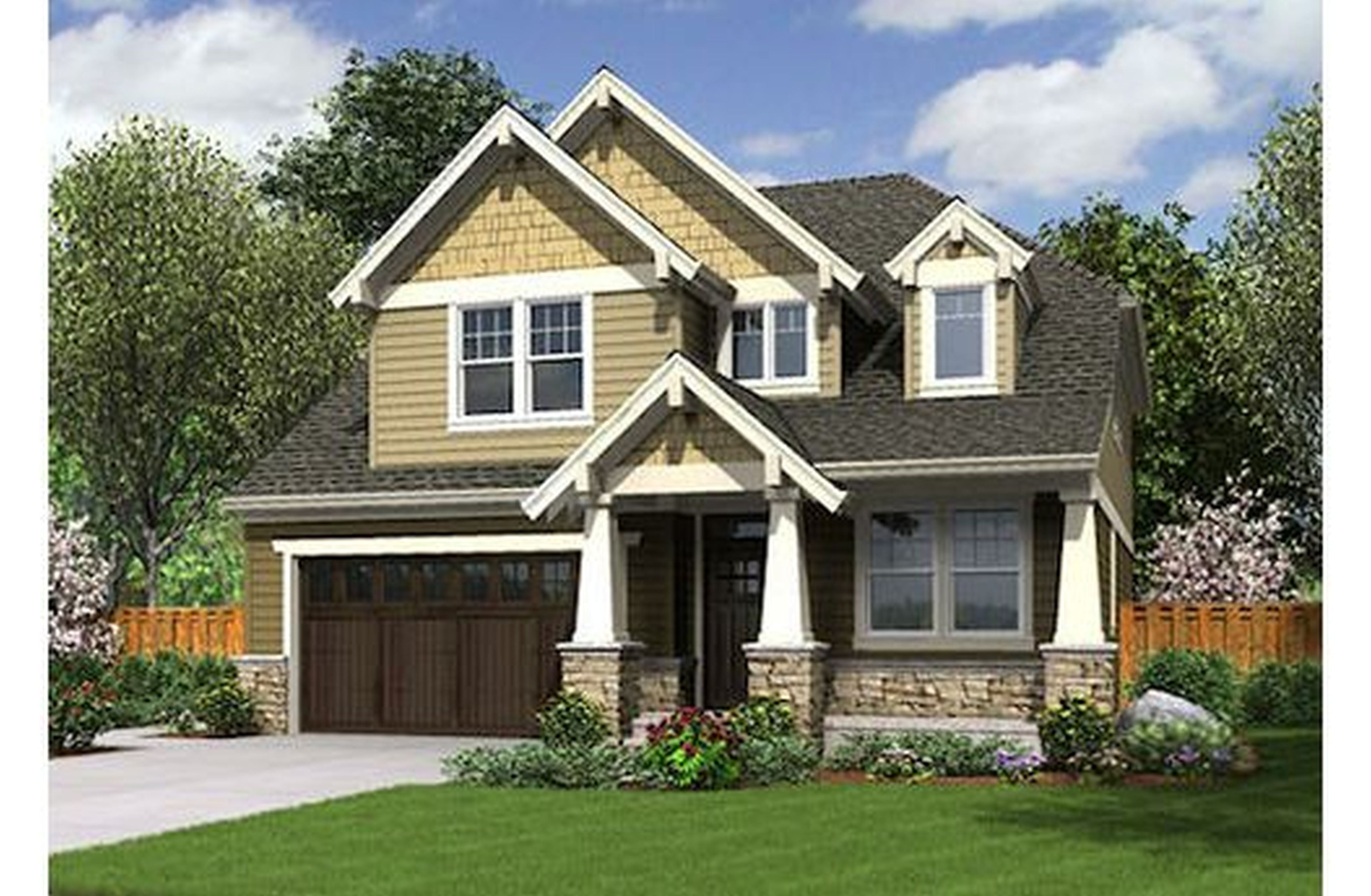 Owning A Home Is A Keystone Of Wealth Both Financial Affluence And Emotional Security Suze Orman Narrow Lot House Plans Craftsman House Plans House Plans