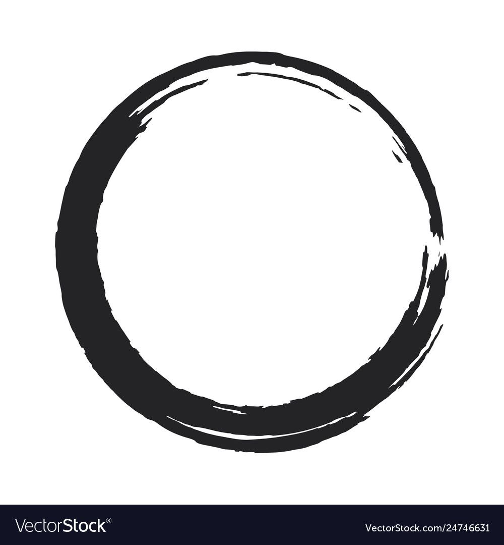 Paint Brush Circle Stroke Abstract Royalty Free Vector Image Affiliate Circle Stroke Paint Brush Ad Free Vector Images Vector Images Vector Free