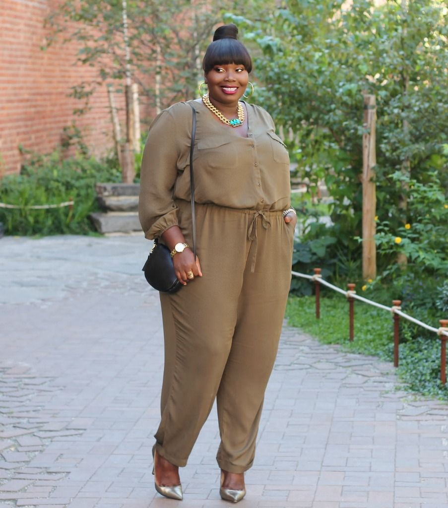 06e3e14ef2dfa Dressy Casual In An Old Navy Plus Size Jumpsuit | Stylish Curves ...