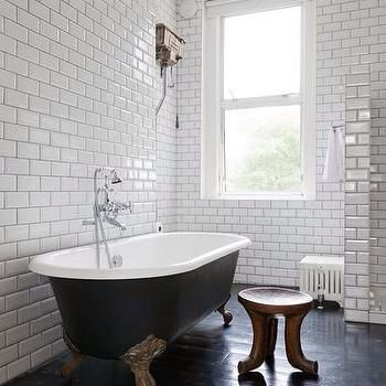 Gold Feet On Clawfoot Tub Silver Fixtures Contemporary