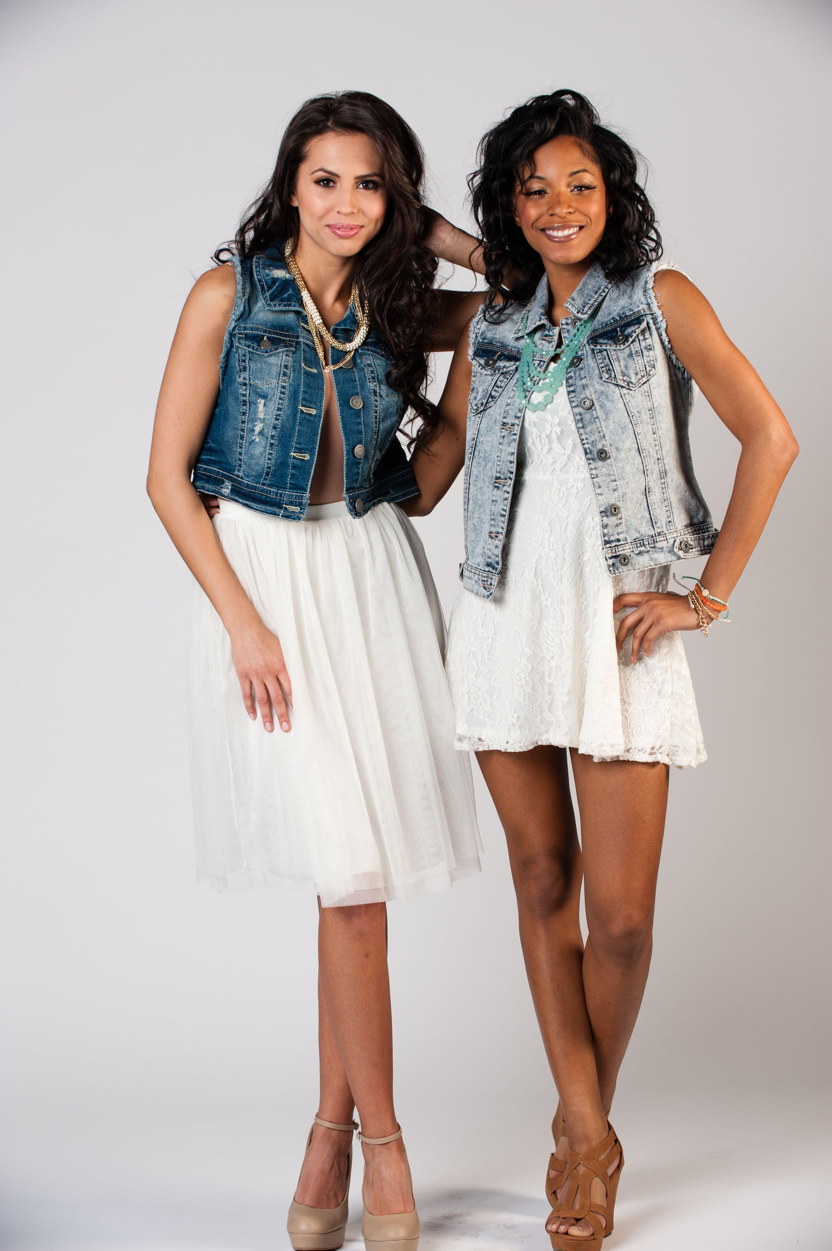 Denim vests are a great addition to spring dresses vests start at
