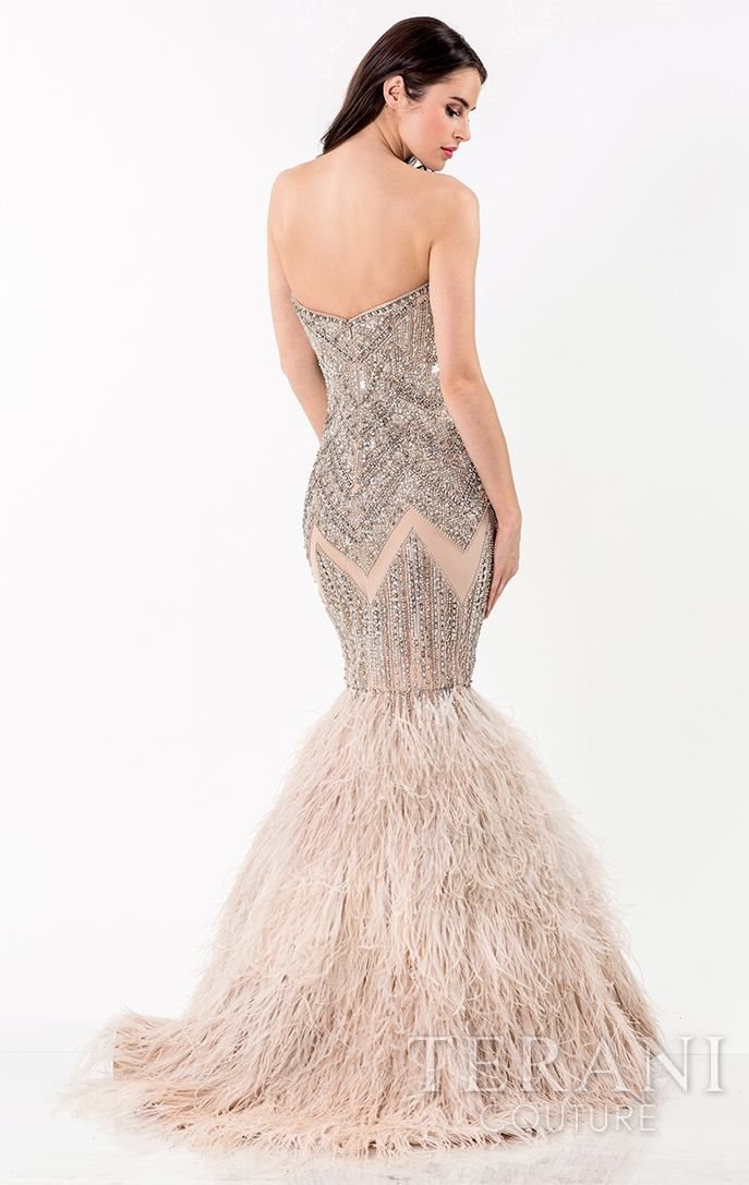 3fad442fd10c Strapless Embellished Mermaid Gown by Terani Couture Evening | Pink ...