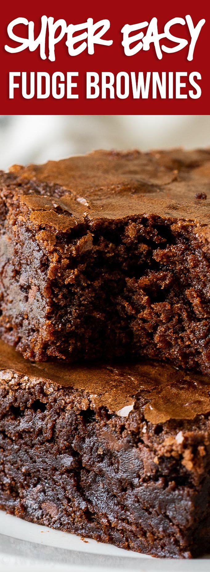 The BEST Fudge Brownie Recipe