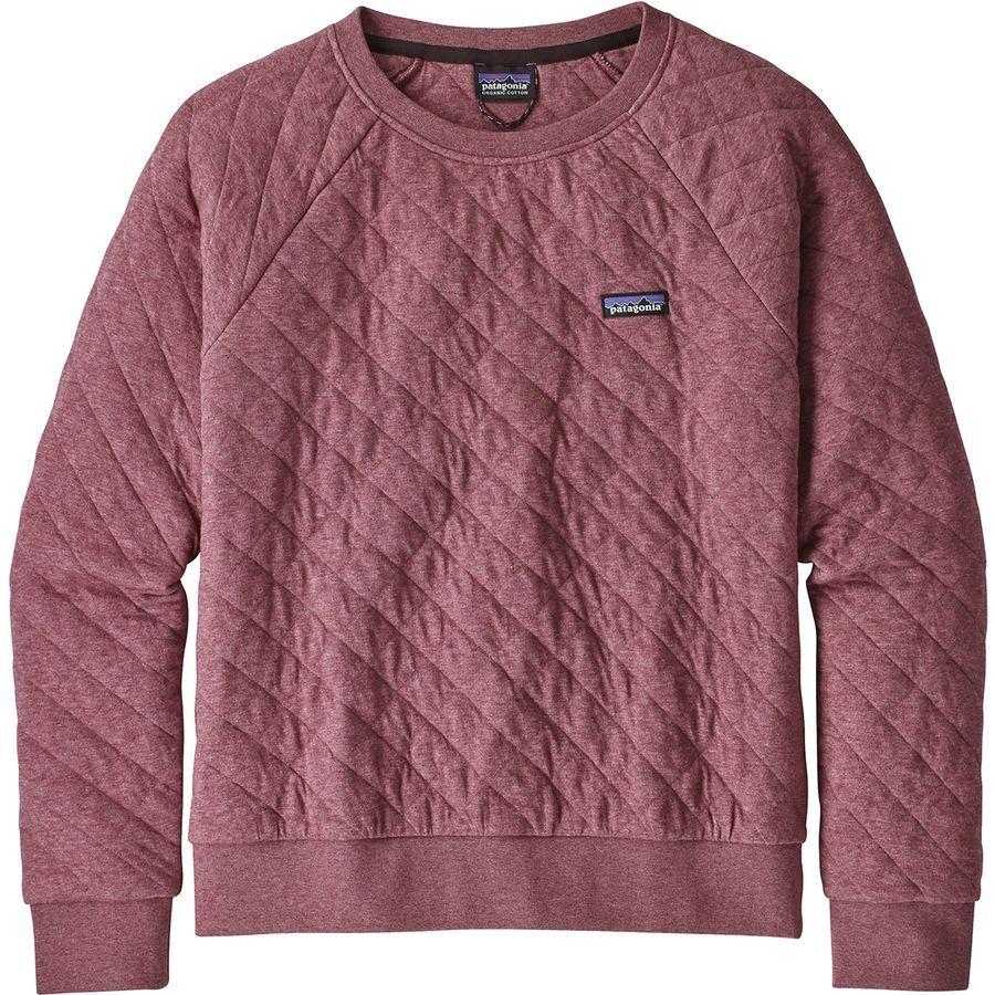 Patagonia Organic Cotton Quilt Crew Sweatshirt Women S