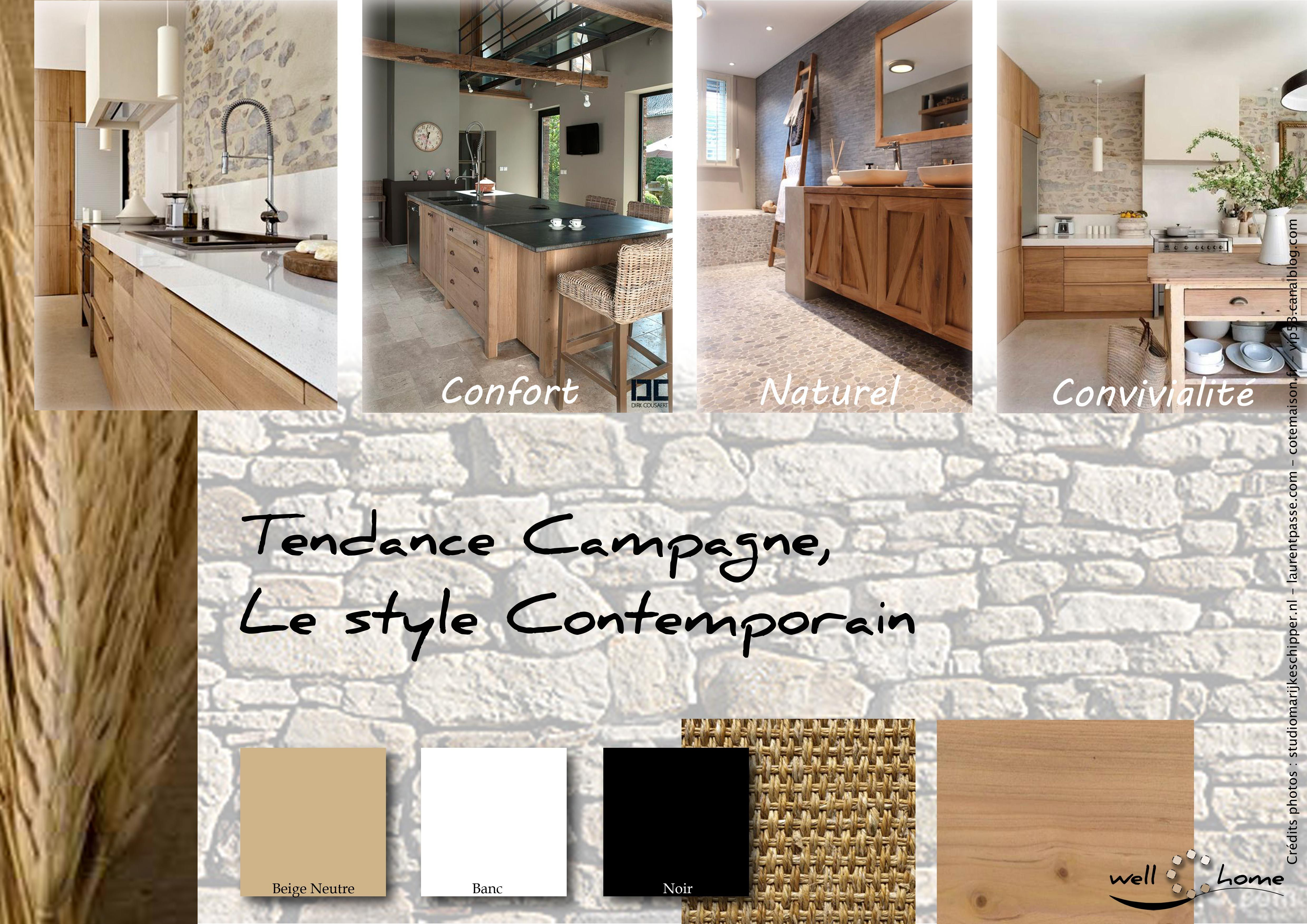 Moodboard d co planche d 39 ambiance tendance campagne style contemporain r alisation well c - Planche d ambiance ...