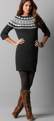 Ann Taylor fair isle sweater dress | Looks I love fall/winter ...